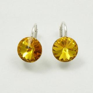 Swarovski naušnice SUNFLOWER 12mm
